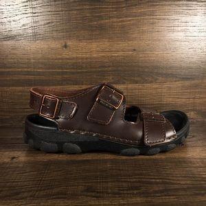 Birkenstock Tatami 3 Strap Brown Leather Sandal